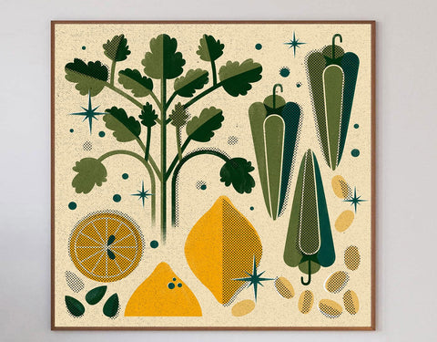 Indian Food Art Print