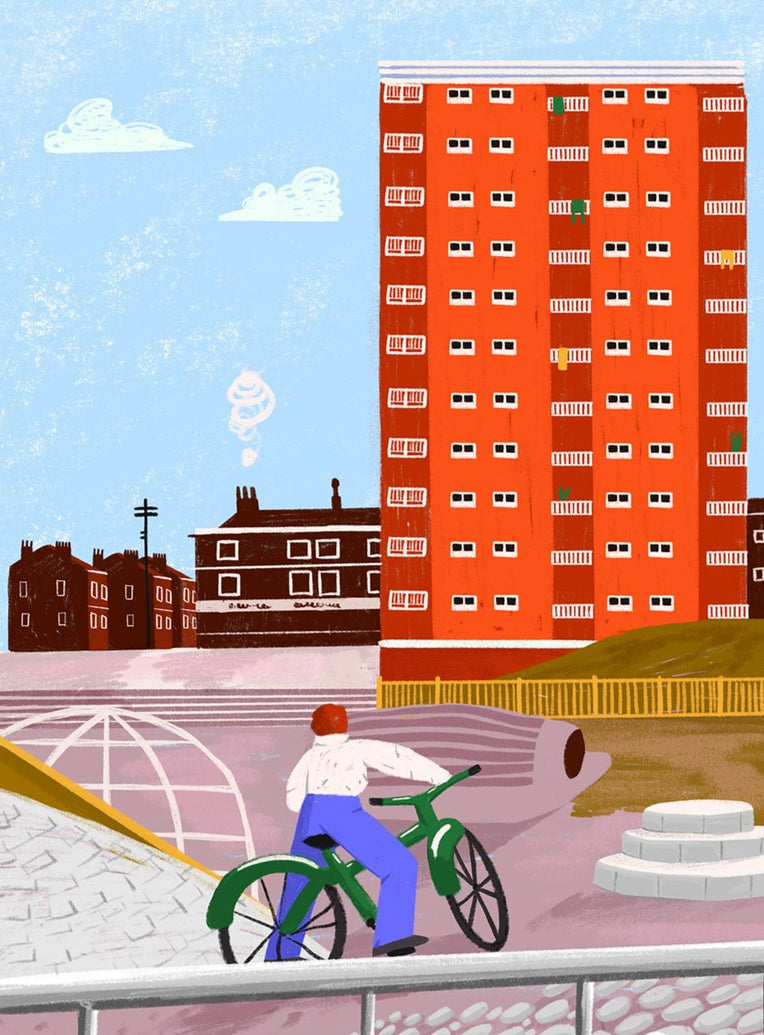 Playground, Liverpool Limited Art Print