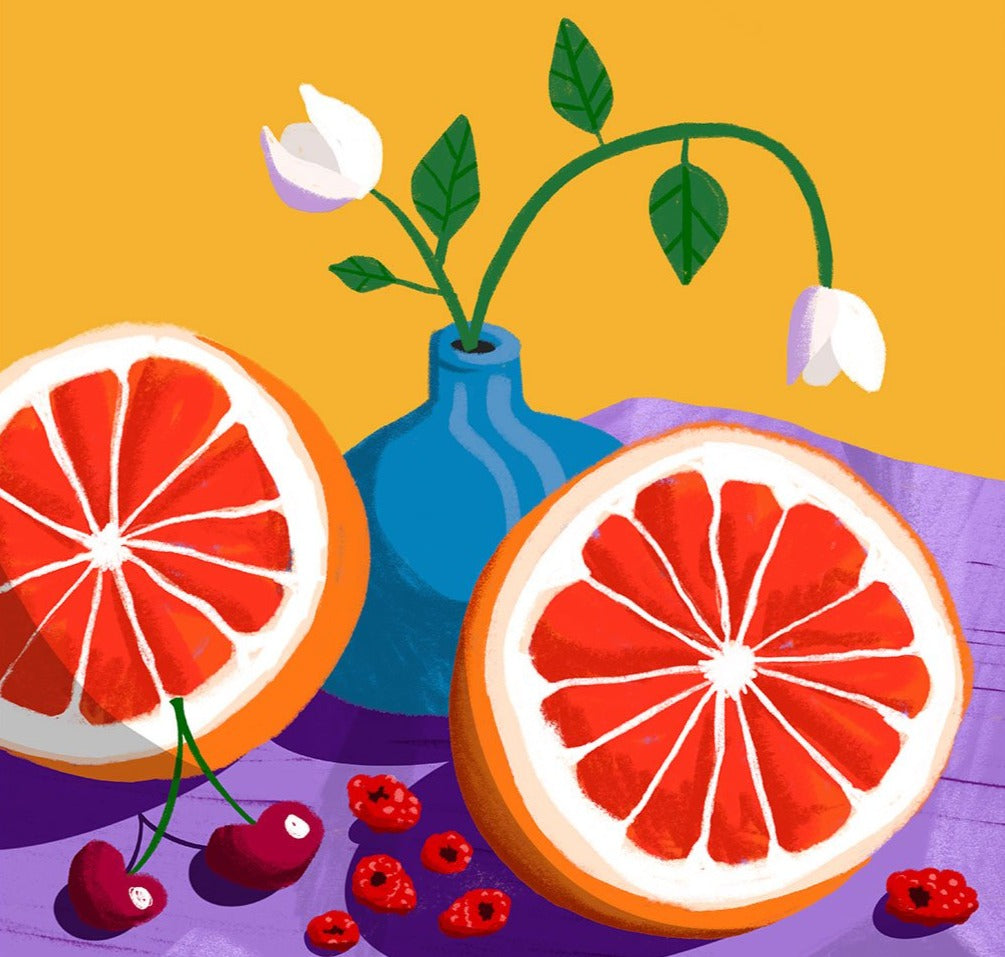 Still Life: Grapefruits Limited Art Print