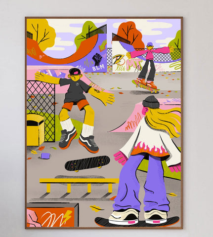 Afternoon Skatepark Limited Art Print