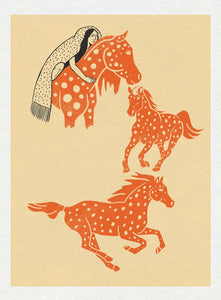 Spotted Ponies Limited Art Print