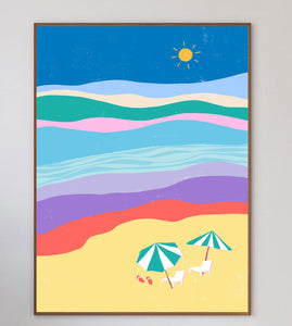 Abstract Beach Limited Art Print - Printed Originals