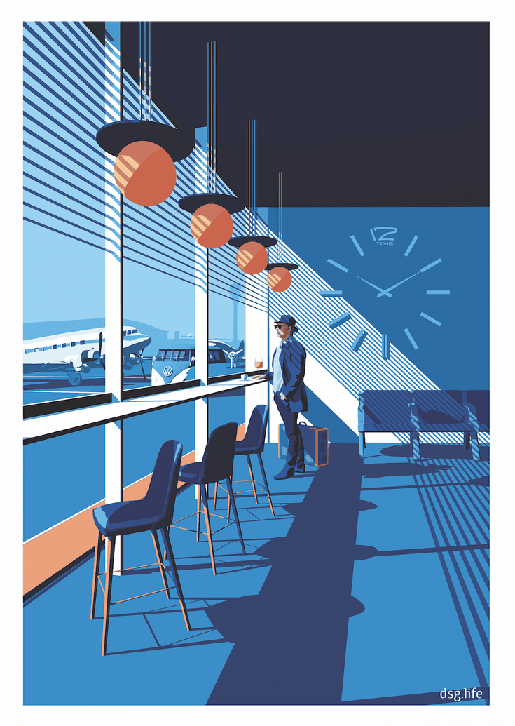 Aeroport Limited Art Print - Printed Originals