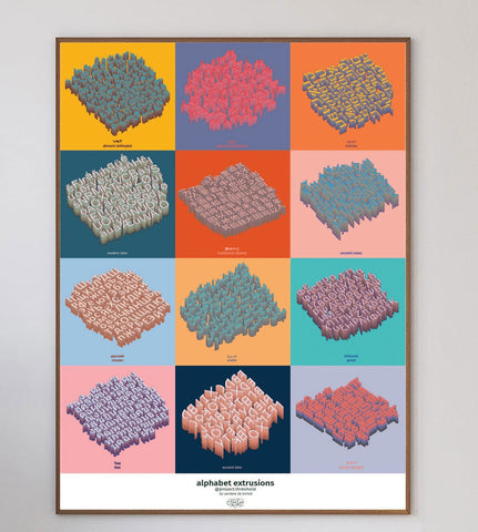 Alphabet Extrusion Limited Art Print