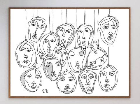 Luminary Faces Limited Art Print