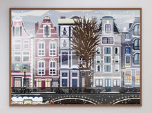 Load image into Gallery viewer, Amsterdam in Winter Art Print - Printed Originals