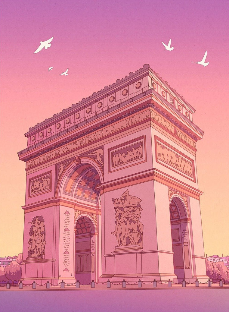 Arc De Triomphe Art Print - Printed Originals