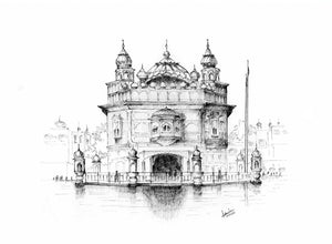 Golden Temple Limited Art Print