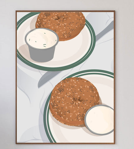 Bagels Limited Art Print