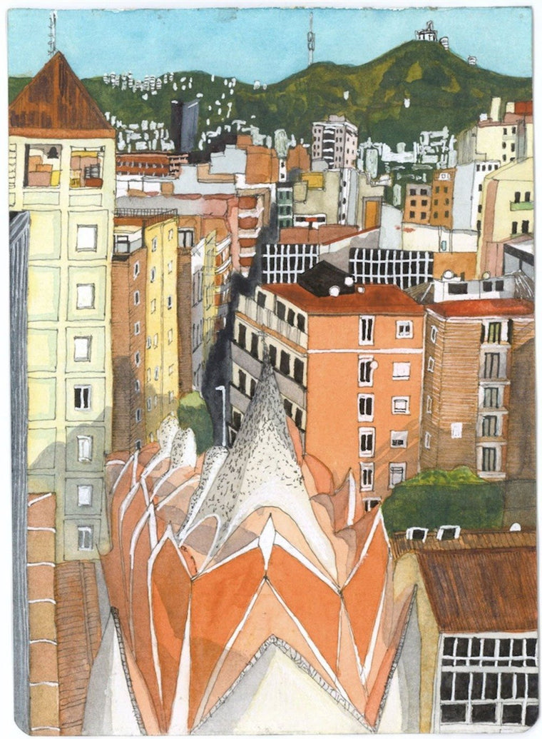 Barcelona From the 10th Floor Limited Art Print - Printed Originals