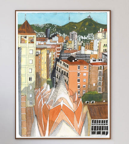 Barcelona From the 10th Floor Limited Art Print