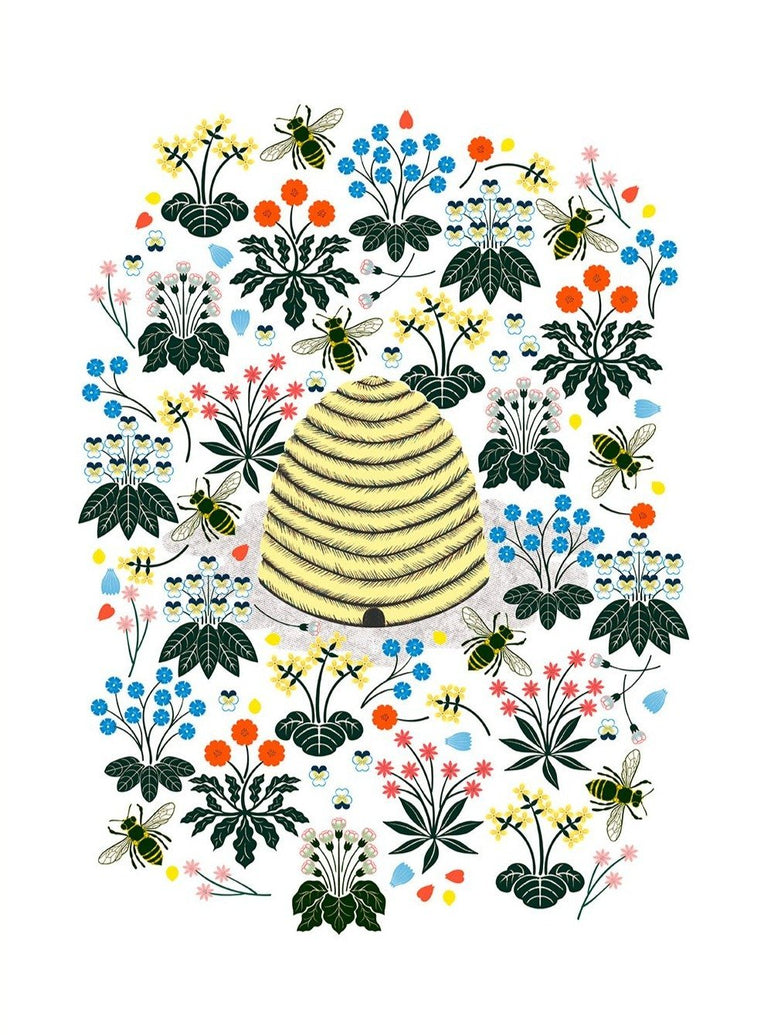 Beehive Limited Art Print - Printed Originals