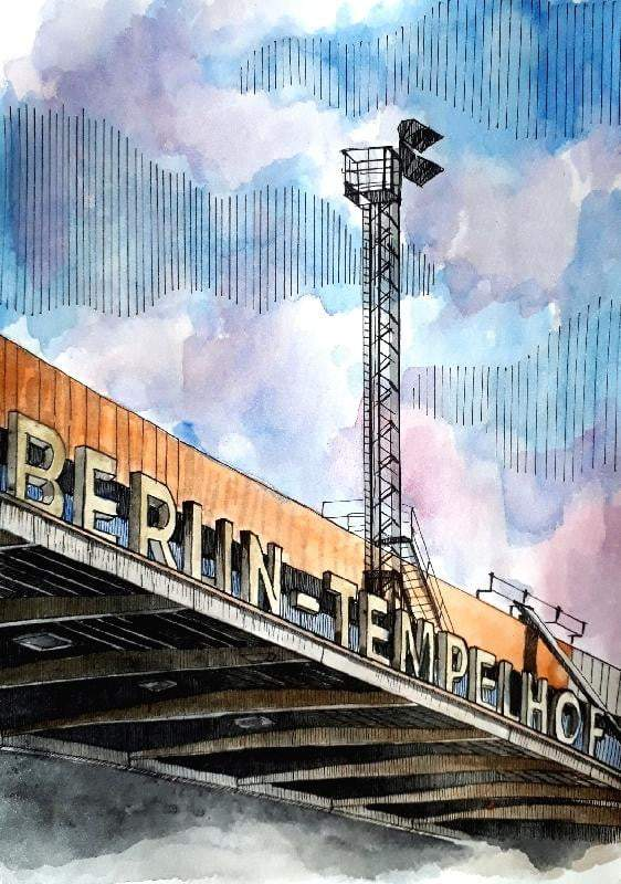 Berlin Tempelhoff Art Print - Printed Originals