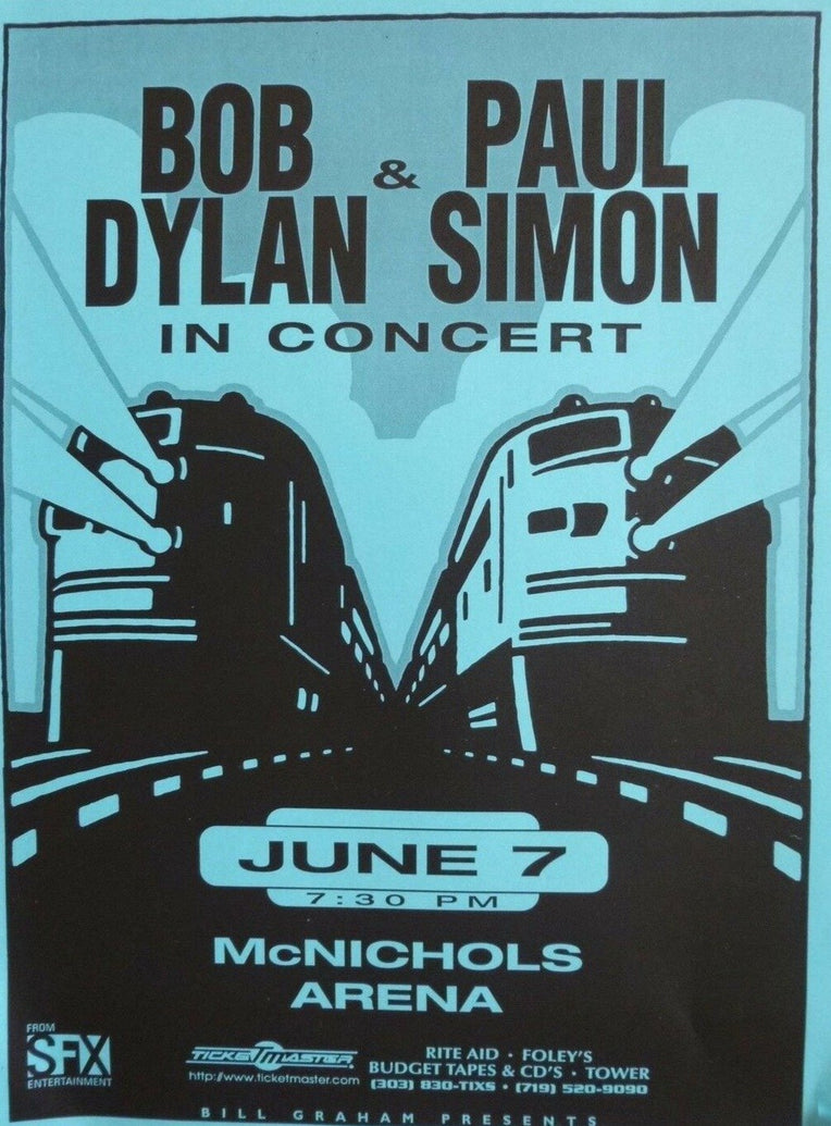 Bob Dylan & Paul Simon - Printed Originals