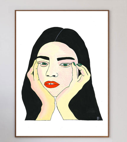 Bored Face Limited Art Print