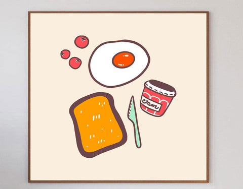 Breakfast Limited Art Print