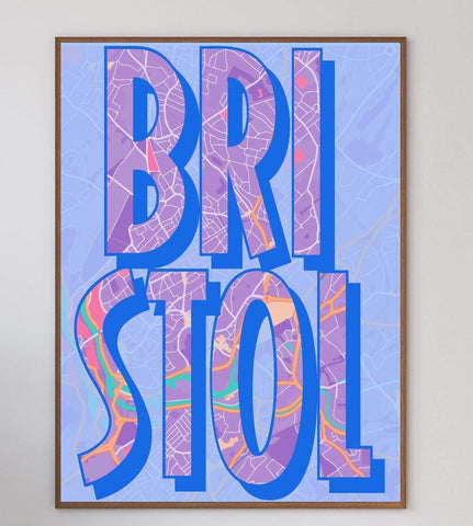 Bristol Text Art Print