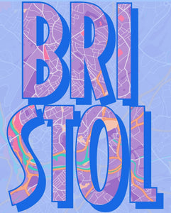 Bristol Text Art Print - Printed Originals