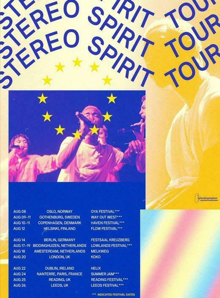 Brockhampton - Stereo Spirit Tour - Printed Originals