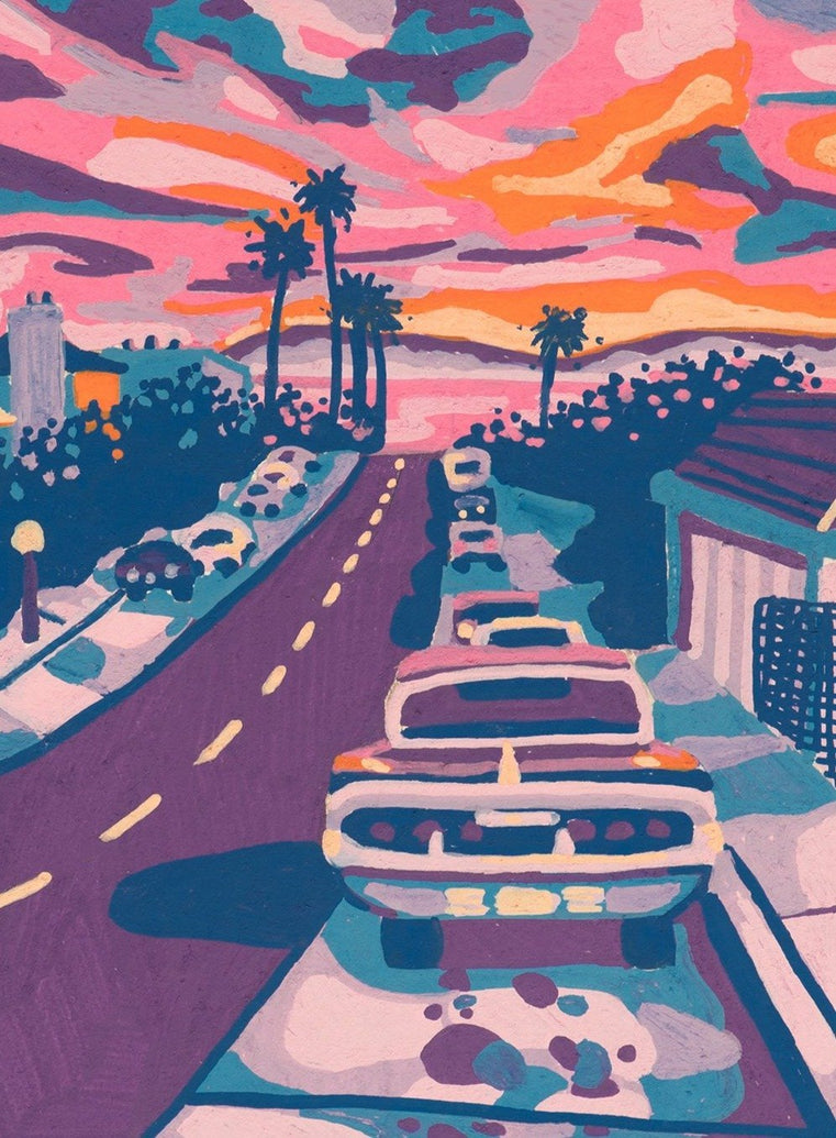 California Streets Limited Art Print - Printed Originals