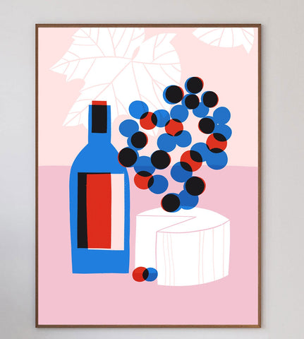 Cheese & Wine Limited Art Print