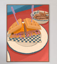 Load image into Gallery viewer, Chicken Waffle Burger Limited Art Print - Printed Originals