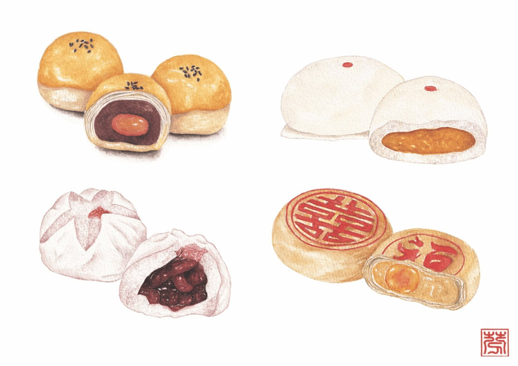 Chinese Cakes Art Print - Printed Originals