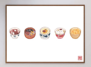 Chinese Sweet Soup Art Print - Printed Originals