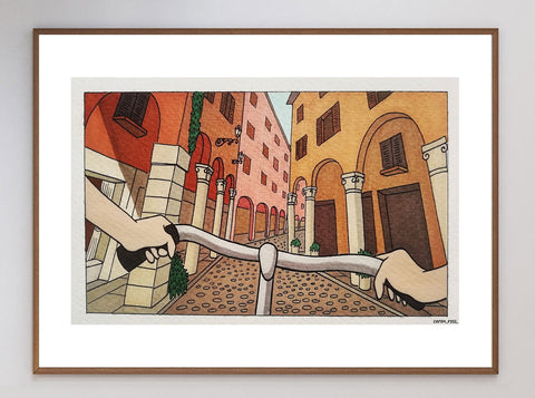 City Ride Limited Art Print
