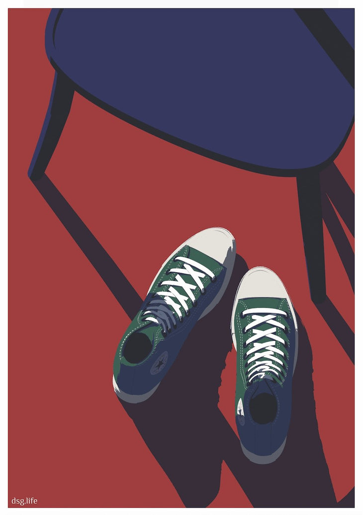 Converse I Limited Art Print - Printed Originals