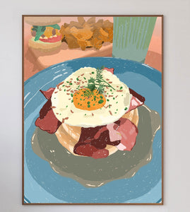 Egg and Bacon Pancakes Limited Art Print - Printed Originals