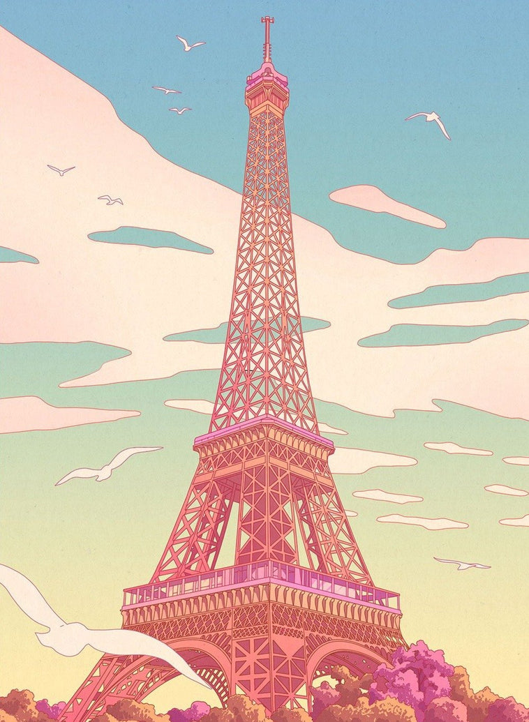 Eiffel Tower Art Print - Printed Originals