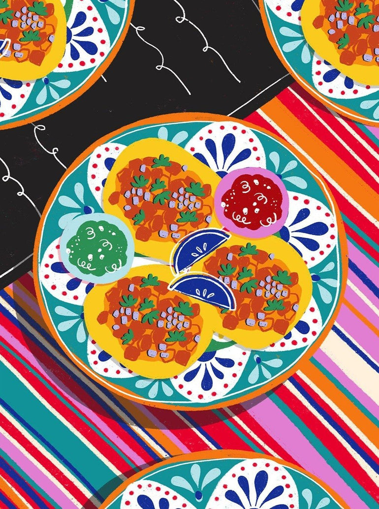 El Mariachi Tacos Limited Art Print - Printed Originals