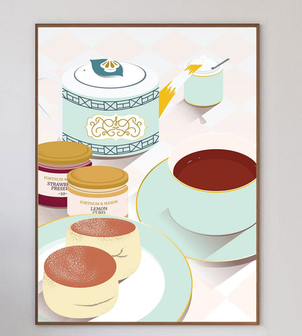English Afternoon Tea Limited Art Print