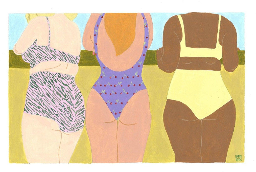 Girls At The Golden Hour Limited Art Print - Printed Originals