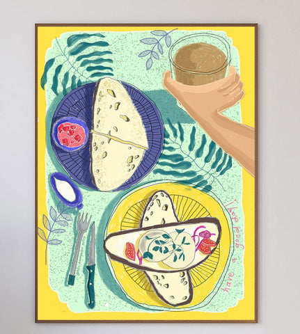 Good Food = Good Mood Limited Art Print