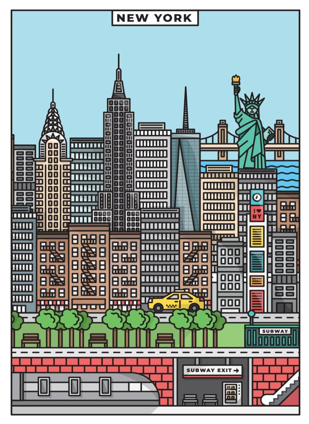 New York Limited Art Print