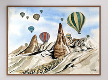 Load image into Gallery viewer, Hot Air Baloons in Cappadocia Limited Art Print - Printed Originals
