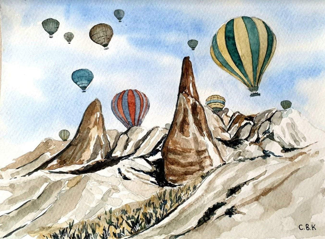 Hot Air Baloons in Cappadocia Limited Art Print - Printed Originals
