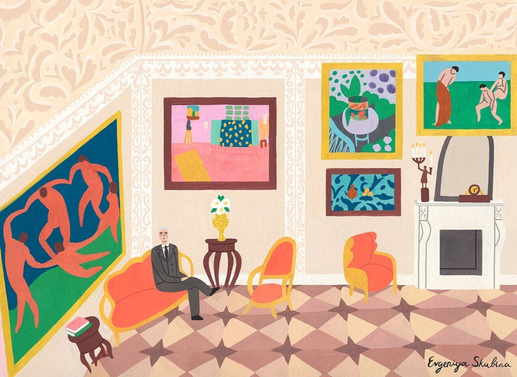 Interior With Matisse Paintings Limited Art Print - Printed Originals