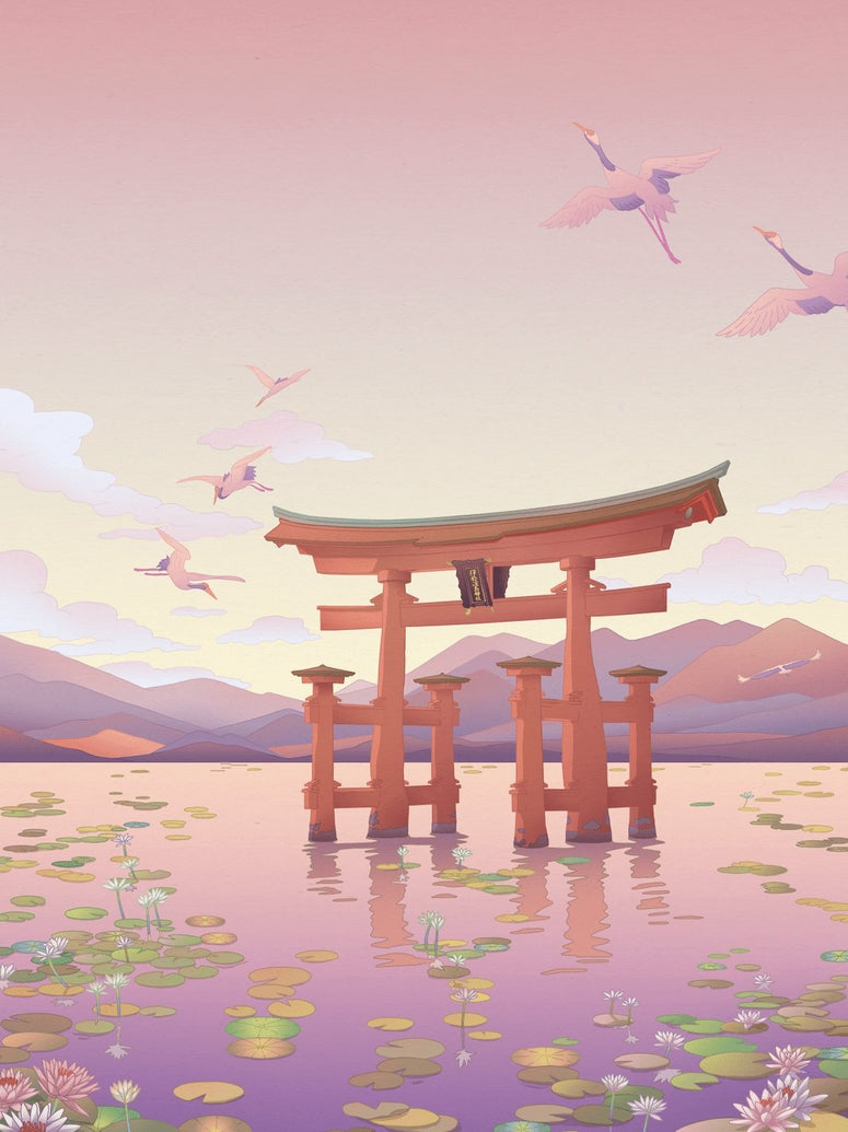 Itsukushima Shrine Floating Torii Gate Art Print - Printed Originals
