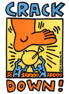 Keith Haring Crack Down - Printed Originals