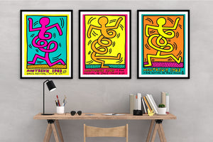 Keith Haring Montreux Jazz Festival Set of Three