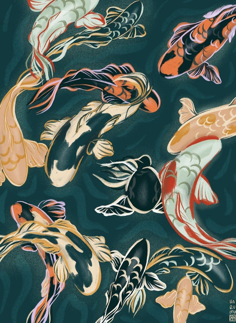 Koi Aquarium Art Print - Printed Originals