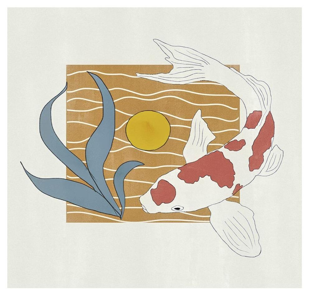 Koi Swim Limited Art Print - Printed Originals