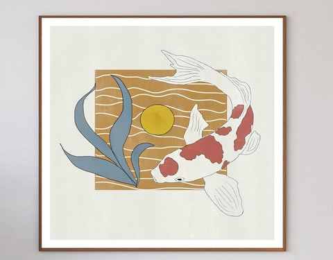 Koi Swim Limited Art Print