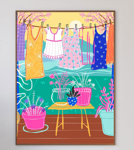Laundry Day Limited Art Print