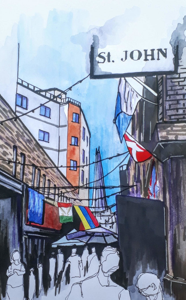 London Maltby Street Market Art Print - Printed Originals