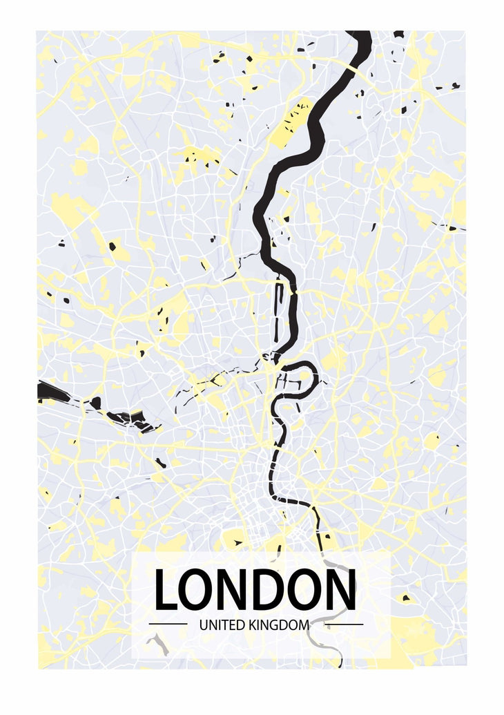 London Map Art Print - Printed Originals