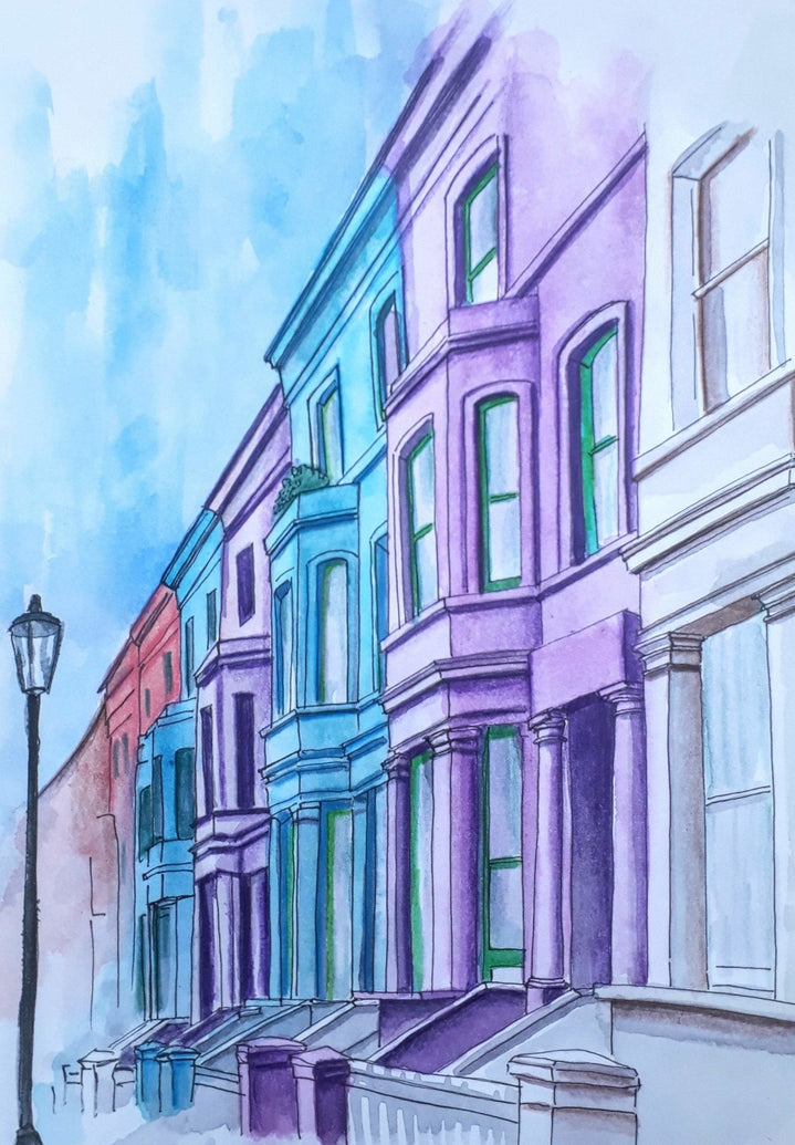 London Notting Hill Art Print - Printed Originals